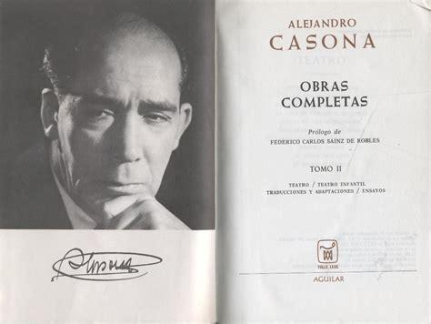 obras completas de federico mimo libros obras completas de alejandro casona pr 243 logo de federico carlos sainz de robles