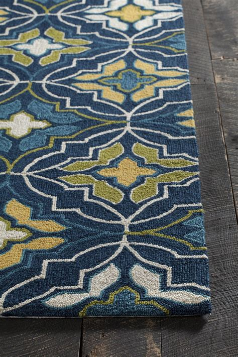 Terra Collection Hand Tufted Area Rug In Blue Green Blue And Green Area Rugs