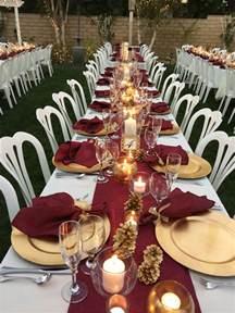 burgundy table runners napkins wedding recycle