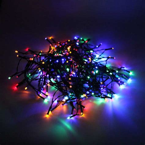 miniature led christmas tree w solar charger 200 led solar power string lights outdoor garden tree l ebay