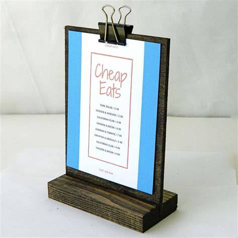 table menu card holder 25 best ideas about menu holders on cafe menu