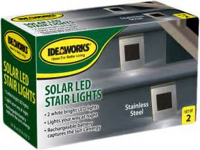 solar outdoor step lights new 2 pack stainless steel solar powered led stair lights