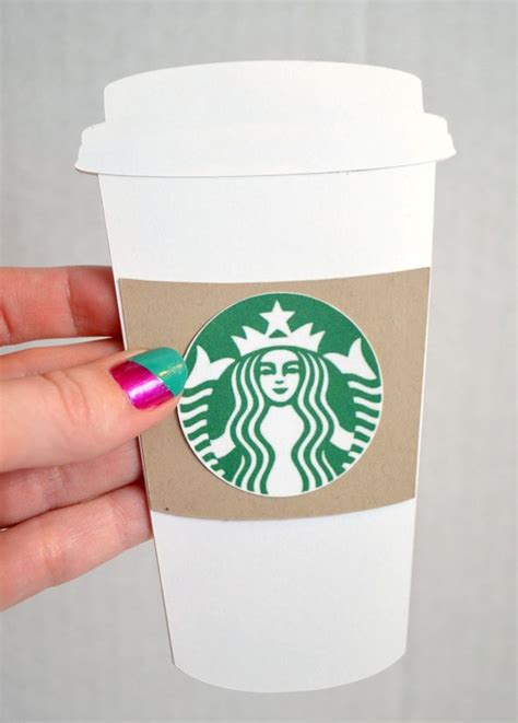 starbucks gift card holder template 25 best ideas about thanks a latte on