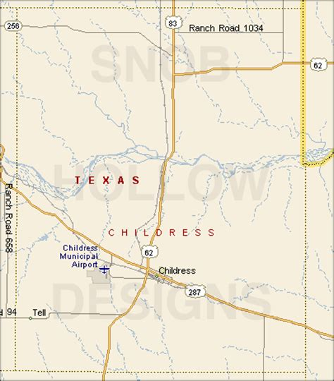 childress texas map childress county texas color map