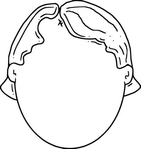 boy head coloring page free blank head clip art coloring pages