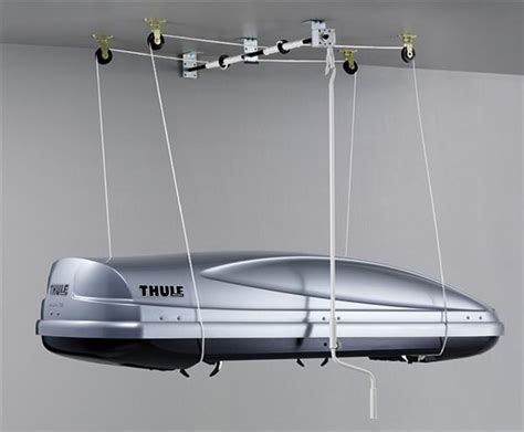 ceiling storage lift thule 572 mulilift roof box lift storage ceiling mount the journey centre