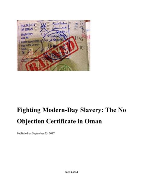 libro modern day slavery and fighting modern day slavery the no objection certificate in oman by dr ali mansouri issuu