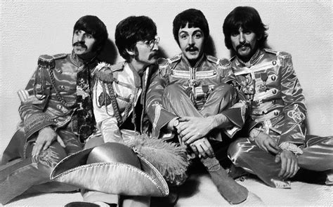 The Beatles Black 1 the beatles sgt pepper s lonely hearts club band painting