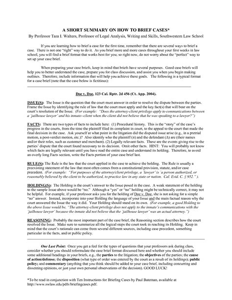 trial brief template brief template cyberuse