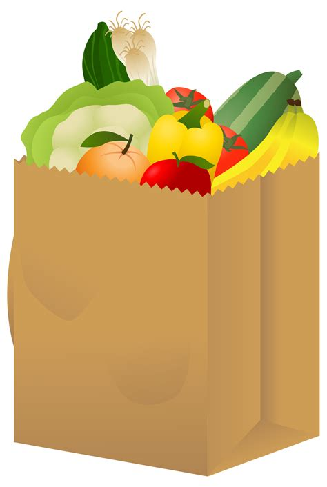 food bag view grocery bag jpg clipart free nutrition and healthy food clipart