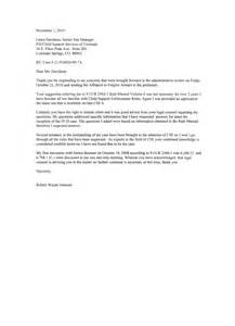 Child Support Letter Of Forgiveness Johnson S Letter In Response To Davidson S Of Oct 29 2010