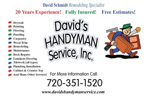 johnsonhandyman bu s siness cards templates free handyman business cards templates free image collections
