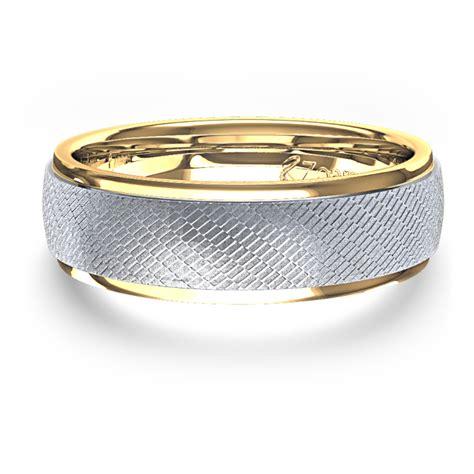 unique s wedding ring in 14k two tone gold