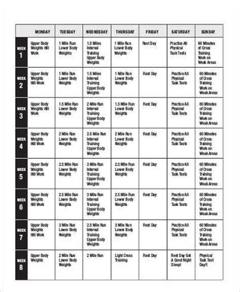 training schedule template training schedule template schedule