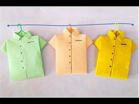 How To Make Paper Shirts - origami shirt how to make paper shirt ว ธ พ บเส อกระดาษ