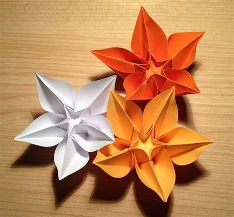 Origami Flower With A4 Paper - make diy origami flowers from a single sheet of paper