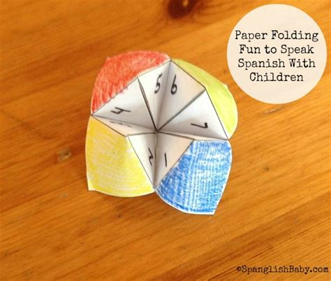 Folding Paper Activity - paper folding to speak with children