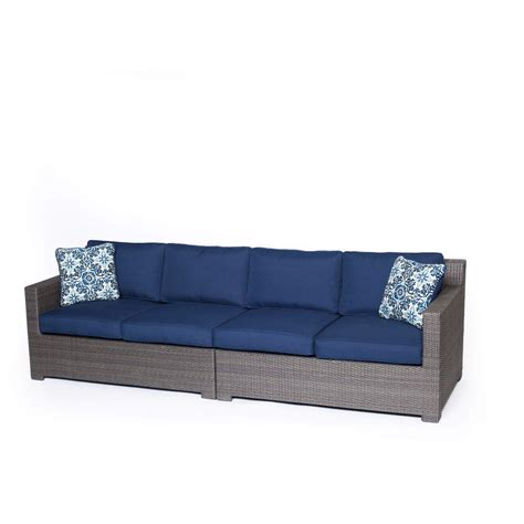 navy sofa set metropolitan 2 piece sofa set in navy blue with gray weave
