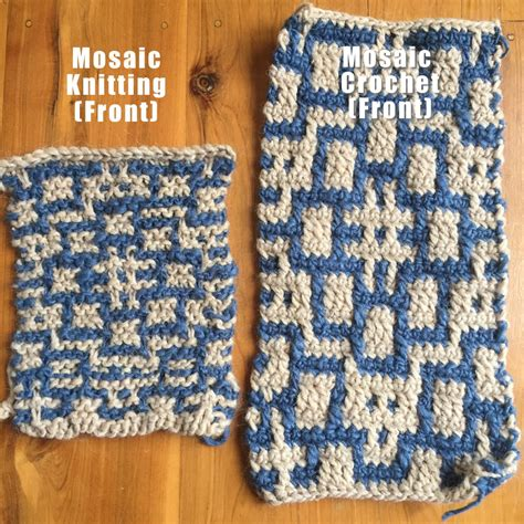 mosaic knitting vs mosaic crochet clearlyhelena