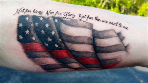 thin red line tattoo 53 coolest must designs for patriotic 4th july tattoos