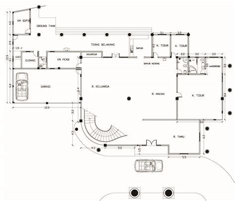 layout gedung serbaguna desain rumah klasik multidesain arsitek