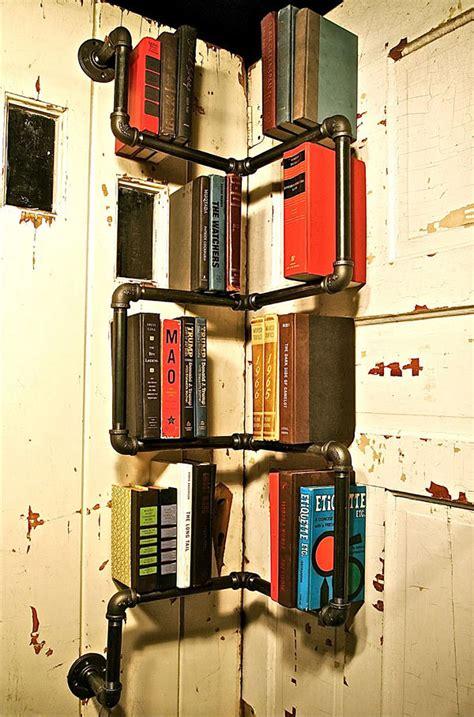 Industrial Floor L Bookshelf By Stella Bleu Designs by 25 Creative Bookshelf Designs You Got To See Hongkiat