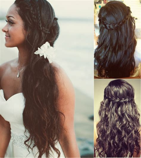 braid hairstyles for long curly hair long black braided headband for black women wedding with