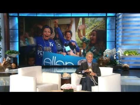 How To Get Tickets To Ellen S 12 Days Of Giveaways - world series superfans get tickets from ellen youtube