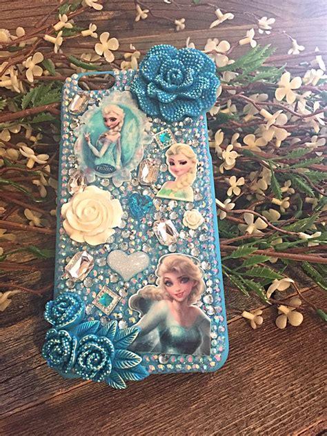 Iphone Custom 55s Frozen 2d Style frozen iphone 6 plus elsa elsa blue phone bling