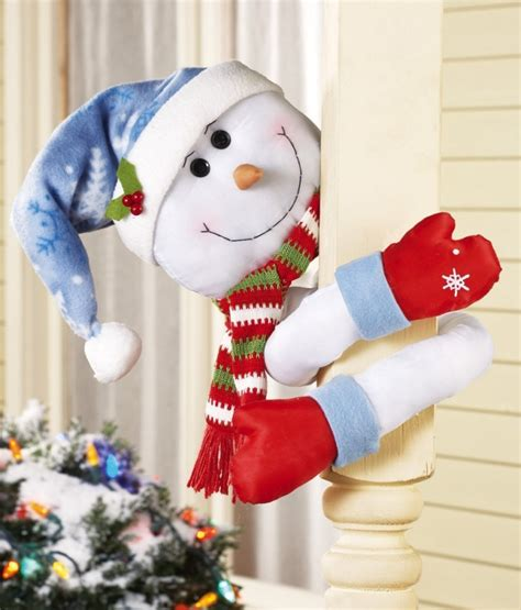 how to make a snowman tree hugger lovable snowman hugger with poseable arms