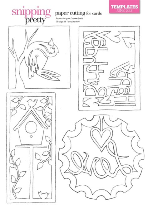 paper cards cut template paper cutting for cards free card downloads