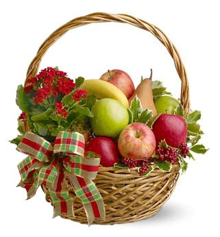 holiday fruit basket delivery at 1 800 florals gift baskets