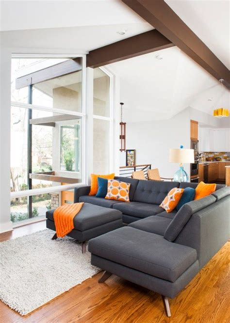 orange couches living room 17 best ideas about orange living rooms on pinterest