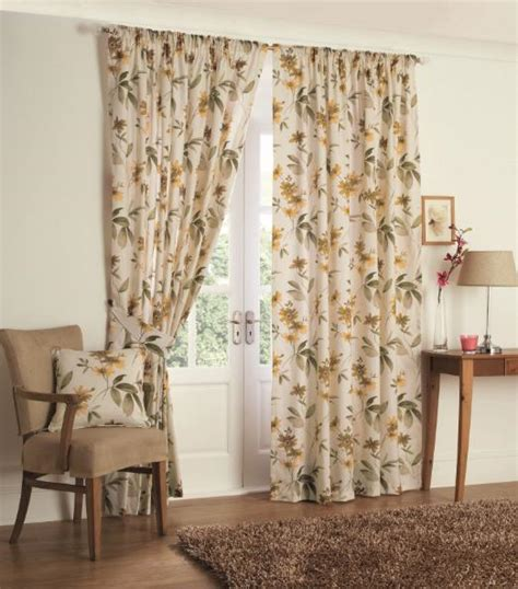 vintage cream curtains retro leaf floral curtains 66 x 72 www perfectlyboxed com