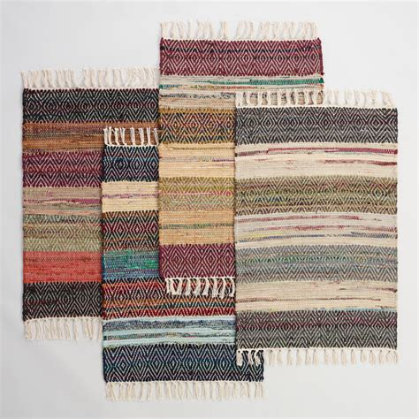 chindi rug world market 2 x3 wide stripe chindi area rug world market