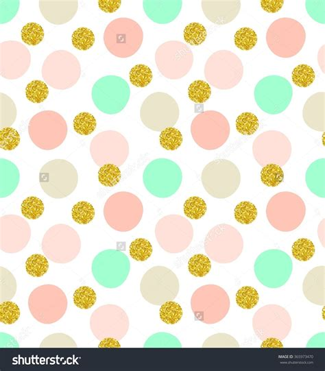 pattern dots gold cute kids polka dot colorful seamless pattern with