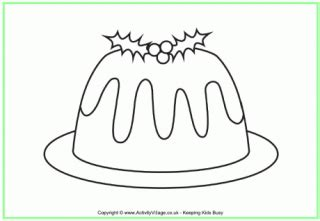 colouring pages christmas pudding christmas pudding colouring page