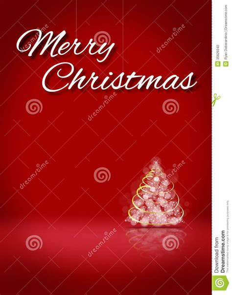 Merry Christmas Tree 3d Card Background Stage Stock Illustration Image 35829340 Merry Card Template