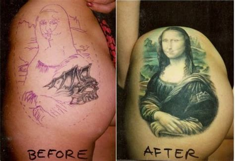 mona lisa tattoo sartle think before you ink mona