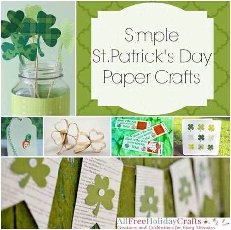 s day paper crafts 20 simple st s day paper crafts