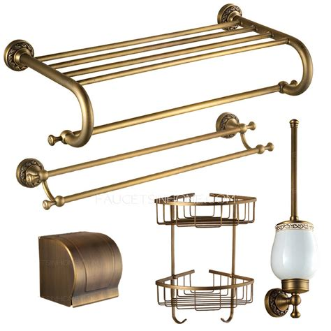 brass bathroom accessories sets american style carved antique brass 5 bathroom