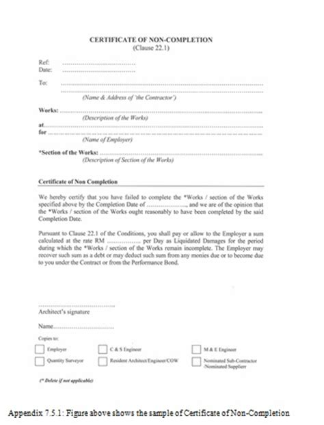 practical completion certificate template uk 28 practical completion certificate template letter