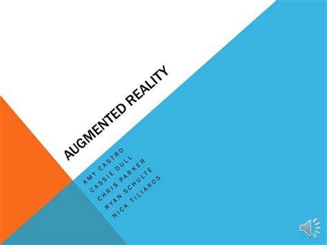 Augmented Reality Authorstream Augmented Reality Ppt Template