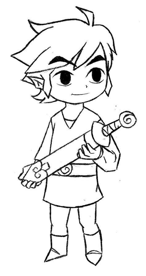 toon link coloring pages pictures to pin on pinterest