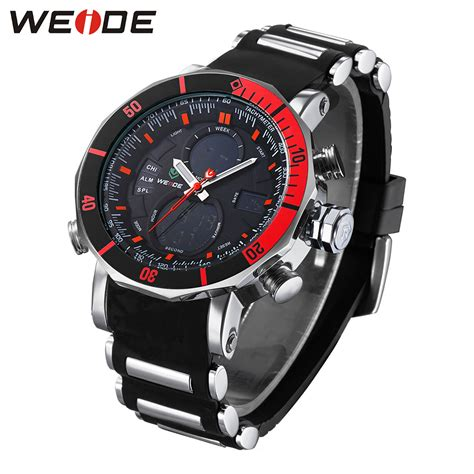 Jam Tangan Pria 02 weide jam tangan analog pria dual time zone silicone wh5203 jakartanotebook