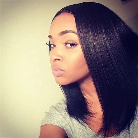 how to wrap a middle part bob weave best 25 relaxed hair ideas on pinterest relaxed hair