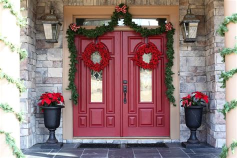 Southern Home Decor Blogs by Traditional Front Door With Christmas Decor Amp Glass Panel