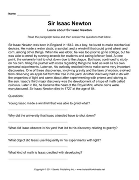 isaac newton biography questions isaac newton worksheet photos roostanama