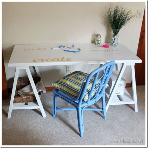 diy frugal sawhorse desk tutorial college bound