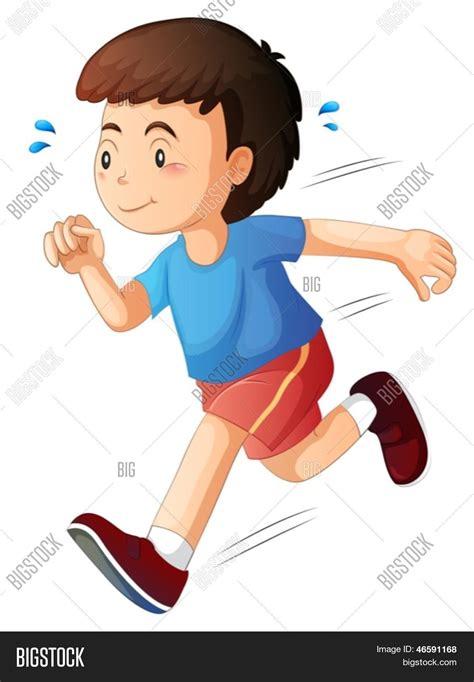imagenes niños corriendo vector y foto ilustraci 243 n de un ni 241 o corriendo bigstock